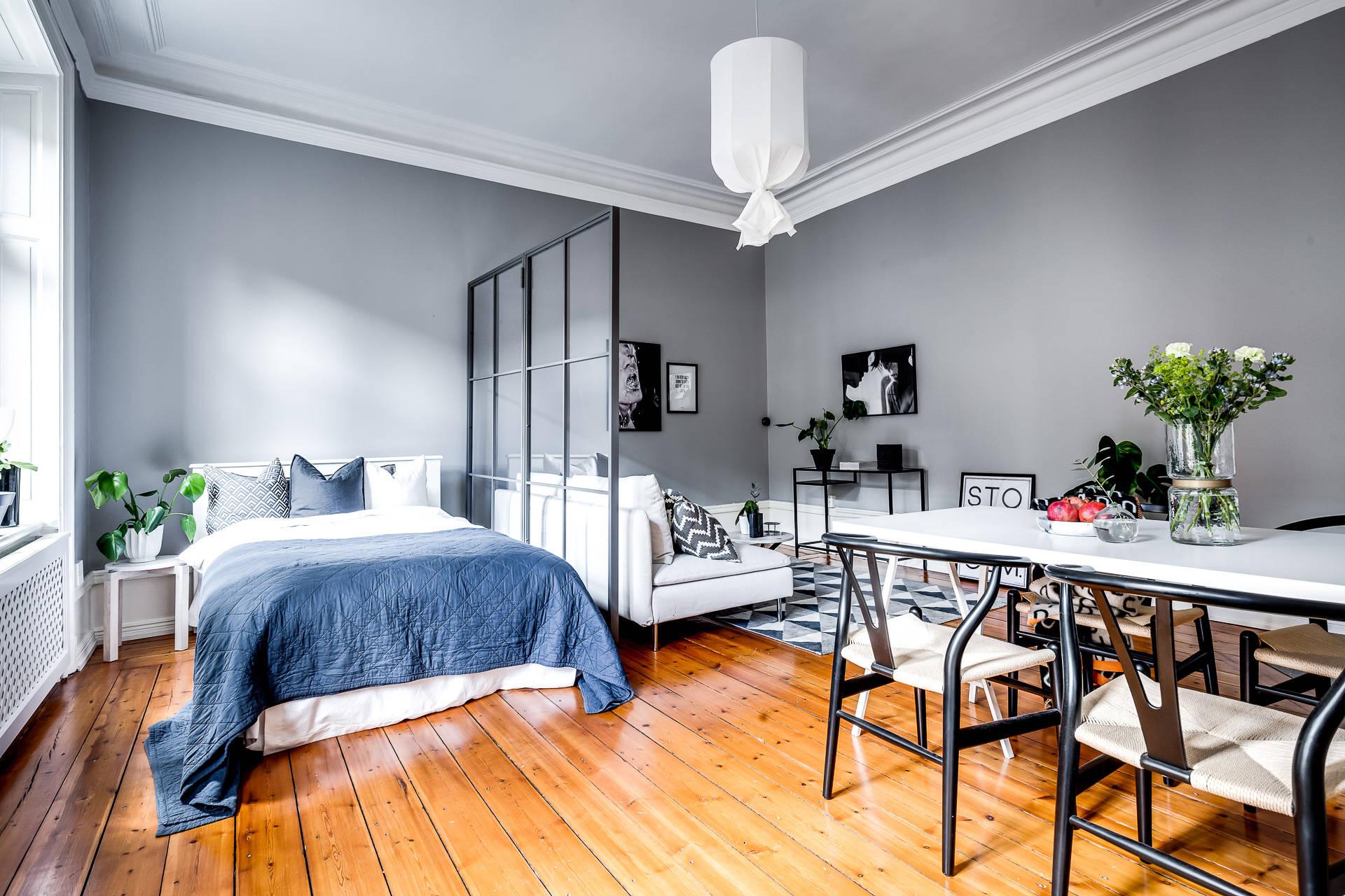 спальная зона в однокомнатной квартире фото