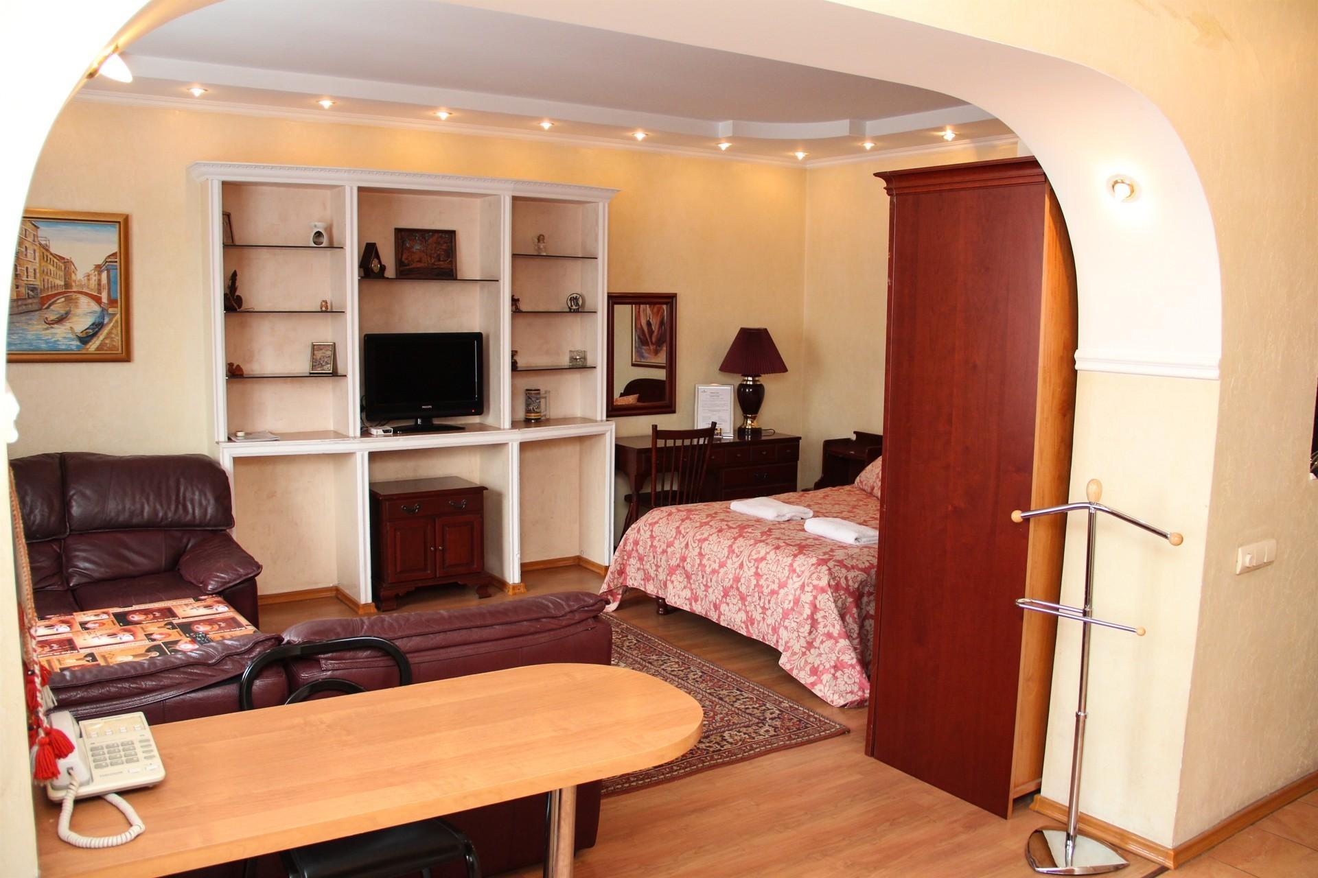 спальное место в однокомнатной квартире фото