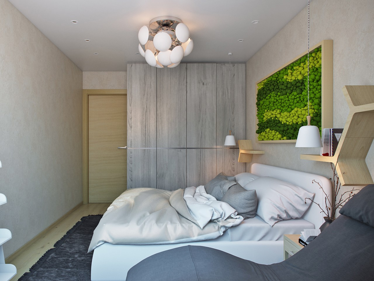 спальня в эко стиле фото