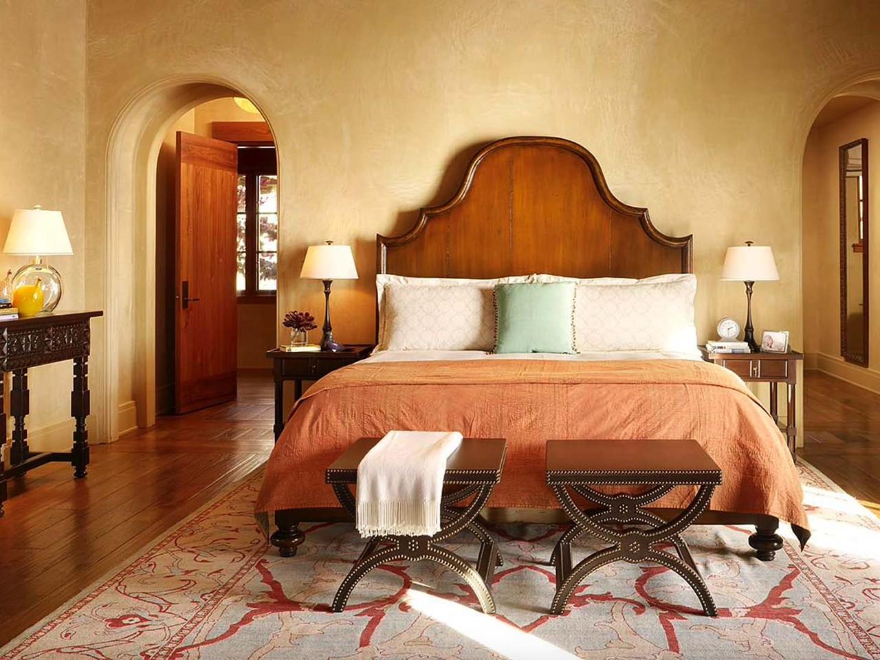 спальня в средиземноморском стиле фото