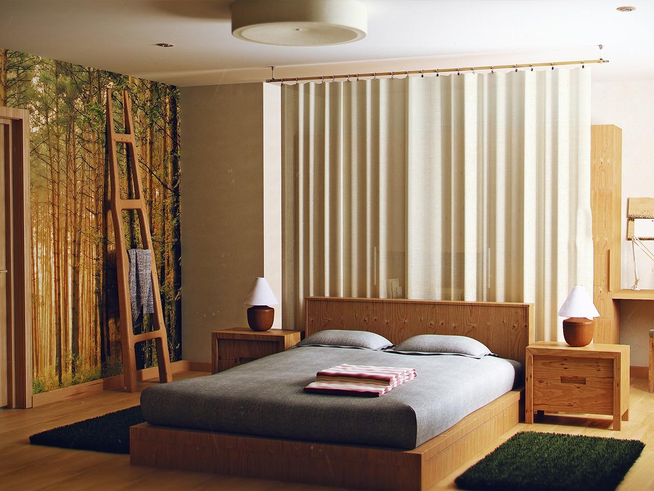 экостиль спальня