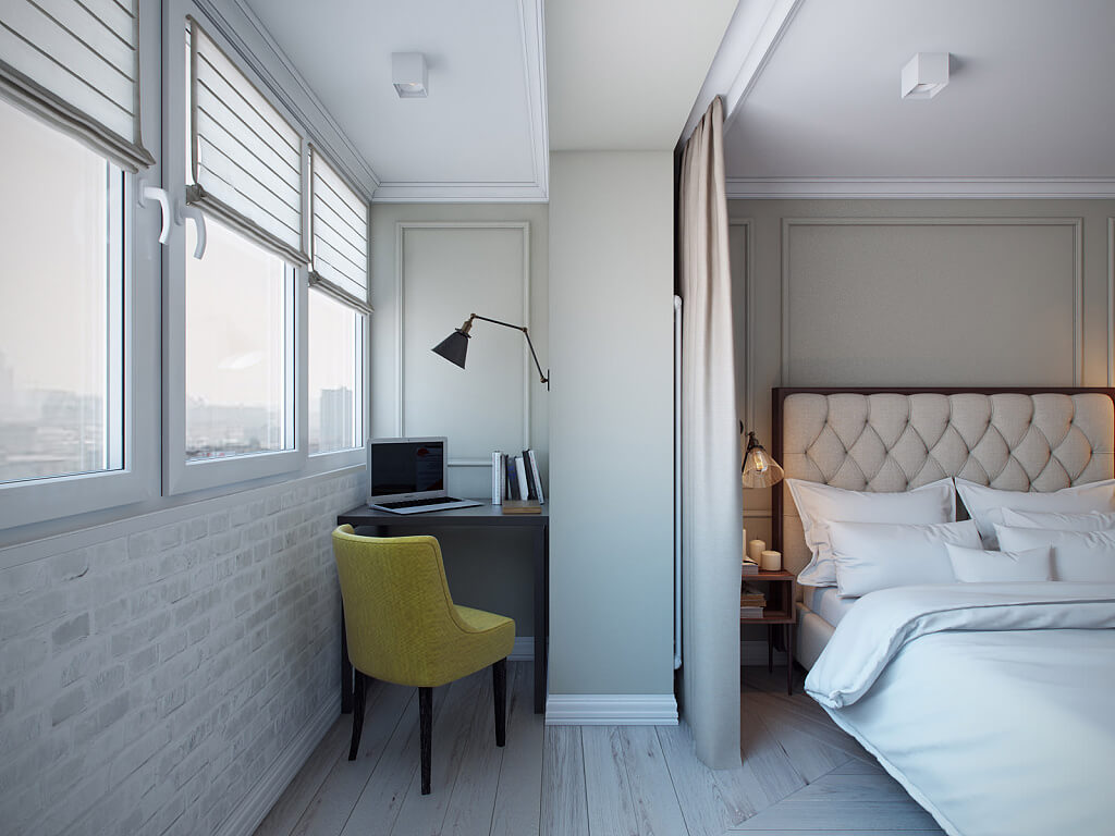 спальня и балкон фото