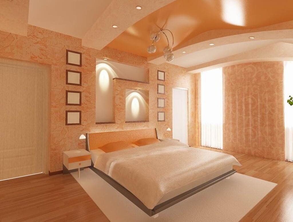 конструкции это спальня в персиковых тонах фото вас