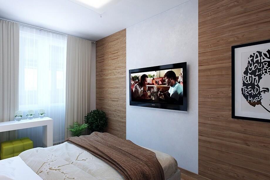 Плазменная панель в спальне